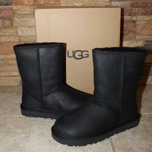 NEW!UGG Waterproof Leather Shearling Classic Boots